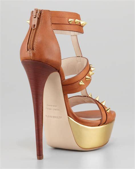 designer platform heels designer studded ankle gladiator heels platform
