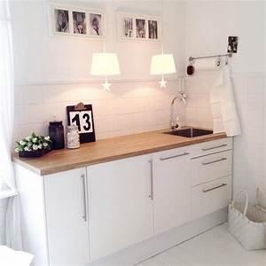 Küche Mit Granitarbeitsplatte : weisse k che mit holzarbeitsplatte ~ Sanjose-hotels-ca.com Haus und Dekorationen
