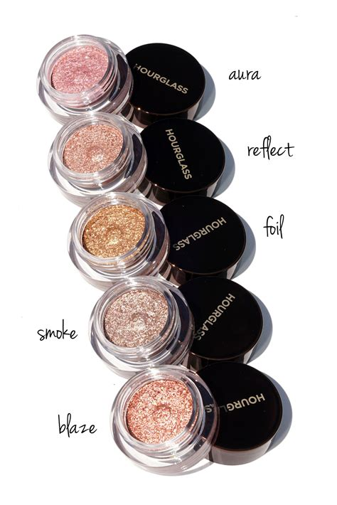 hourglass scattered light glitter eyeshadow review swatches  beauty  book