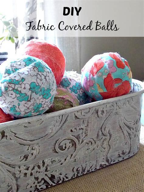 hometalk diy fabric covered balls