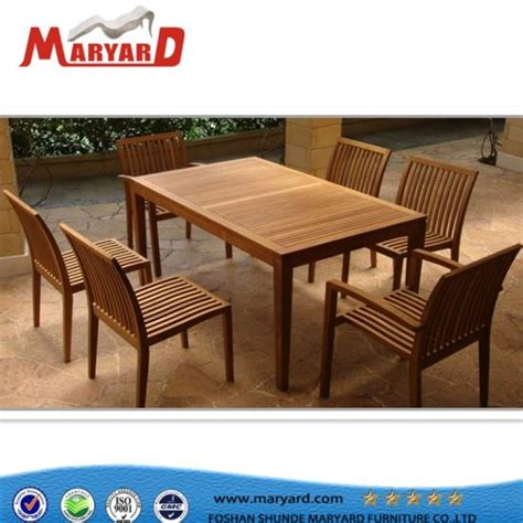china modern designed outdoor teak wood dining table set