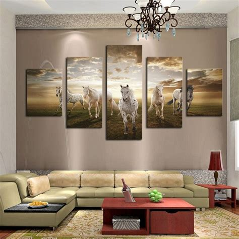 pieces home decor  living room running horse modern