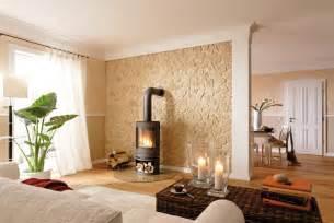 steinwand wohnzimmer paneele alternative gestaltung wand decke innenausbau bauen renovieren für bauherren und