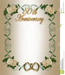 wedding anniversary photo frames 50th wedding anniversary invitation stock photography image 4246982