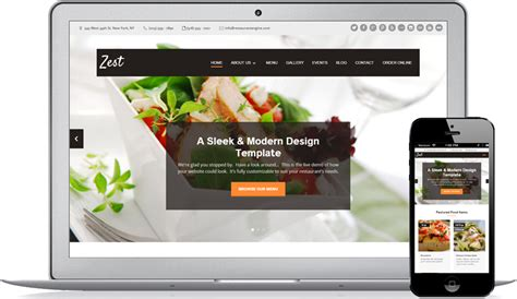cuisine site restaurant website design solution