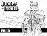Bible Coloring Pages Judges Israel Judge Ehud Sheet Sunday Heroes Para Activities Jueces Sellfy Ninos Craft Bundle Biblia Othniel Children sketch template