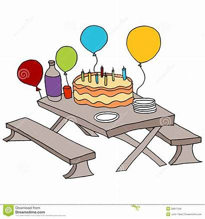 Table Party Birthday Picnic Vector