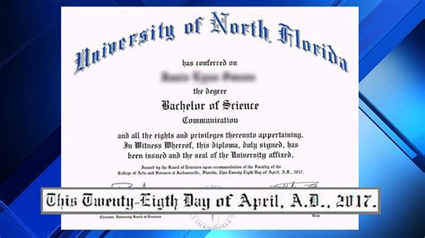 unf diploma typo prompts reprints apology