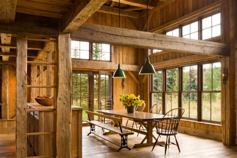 table salle  manger design rustique en  idees originales