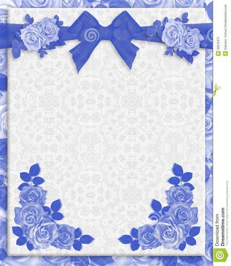 blue roses wedding invitation stock illustration