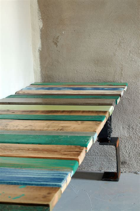 large reclaimed wood bench recreate design company