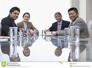 Business People At Conference Table Stock Photo - Image ...