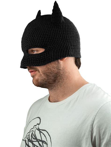 Batman Cowl Beanie   Black Bat Cowl Knit Beanie   Popcultcha