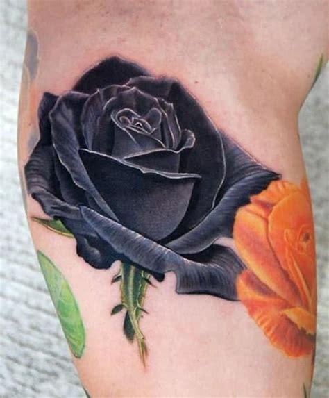 black rose tattoo meanings  designs inkdoneright