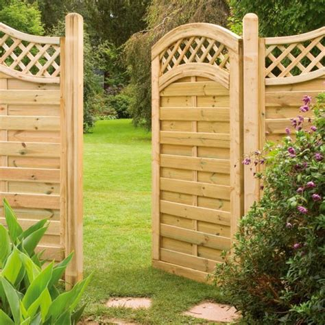 14 simple but attractive garden doors and garden mirrors