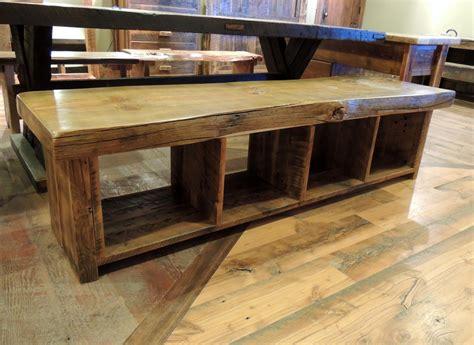 edge rustic storage bench  corner furniture