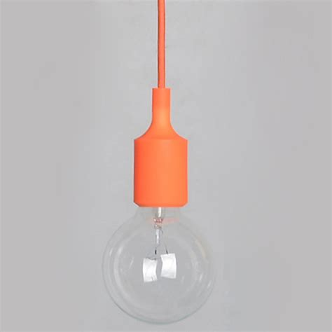 1xsilicone e27 home ceiling pendant l light bulb holder