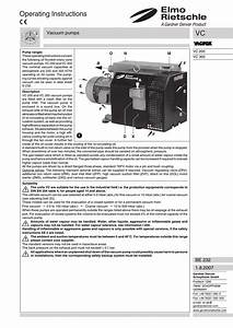 English  Operating Instructions  Vacuum Pumps