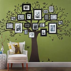 Family tree wall decal tree wall decal for picture frames for The best of family decals for walls