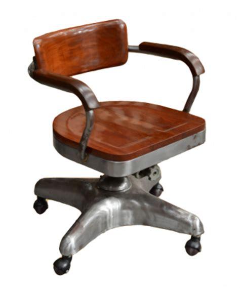 fauteuil de bureau industriel en acier à roulettes