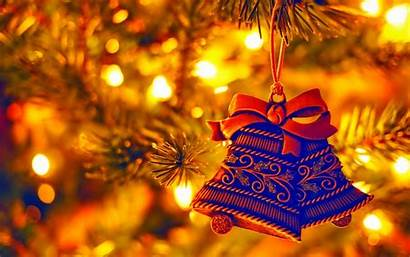 Christmas Tree Bells Decorations Holiday Background Decoration