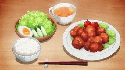 Anime Delicious Blow Healthy Dinner Eating Aesthetic
