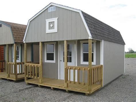 shed with sleeping loft better built barns better built lofted cabins built to