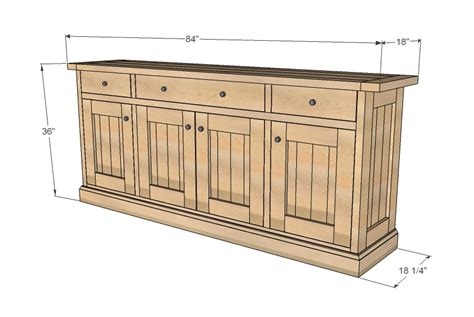 how to make a buffet cabinet wood work sideboard cabinet plans pdf plans