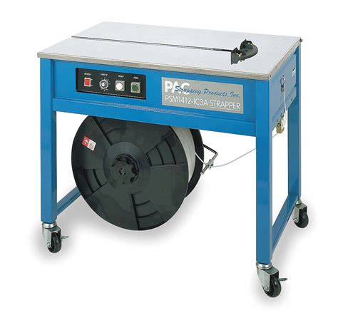 pac strapping products tabletop strapping machine fits strap width    max package