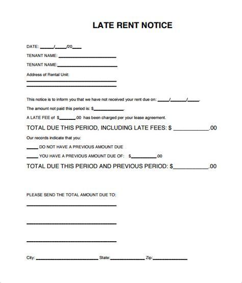 late rental notice templates   google docs