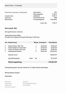 Rechnung Stellen Als Privatperson : rechnungsvorlage schweiz f r word excel kostenlos ~ Themetempest.com Abrechnung