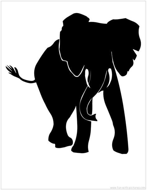 elephant silhouette front pin kati broome auf silhouette cameo ideas