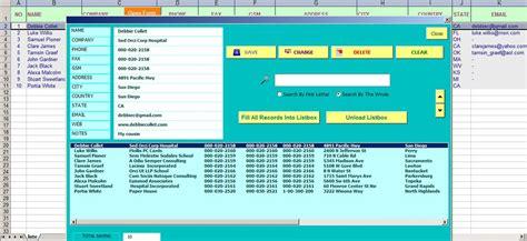 simple   userform address book