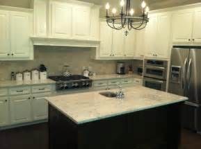 River White Granite with Dark Cabinets