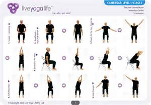 7 best images of printable chair yoga exercises for