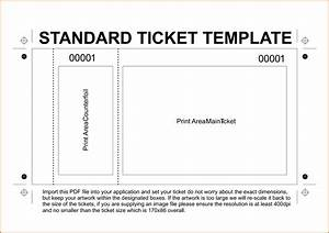 11 free printable raffle ticket template With numbered event ticket template free
