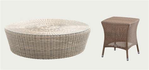 canape osier tables basses d 39 extérieur pour salon de jardin