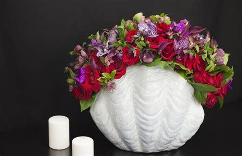 high end flower design in modern vase combination