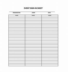18 sign in sheet templates free sample example format With free templates for sign in sheets