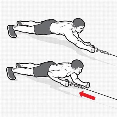Pack Cable Six Plank Row Workouts Moves