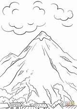 Coloring Mountain Ius Enregistree Depuis Tech sketch template