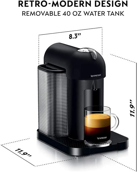 The innovative centrifusion technology lets you brew espresso with a luscious crema base, and the movable cup support accommodates tall glasses easily. Nespresso Vertuo Coffee Espresso Machine by Breville, Matte Black