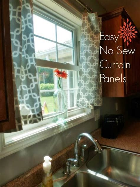 easy  sew curtain panels diy nosewcurtains  home