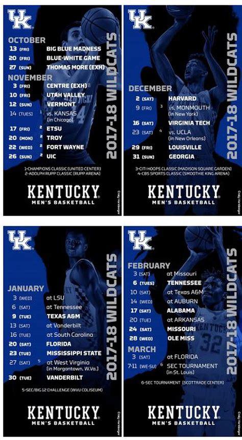 kentucky wildcats basketball full   schedule