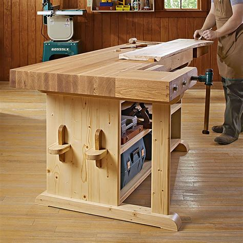 statement workbench woodworking plan  wood magazine
