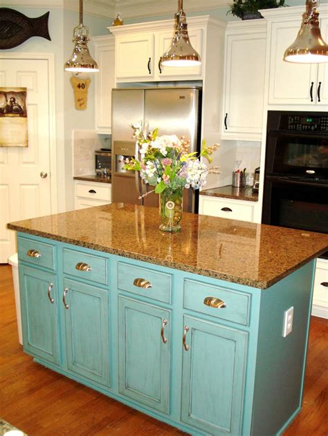 teal kitchen island painted island teal extend counter for barstools glaze 2684