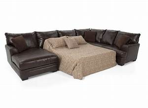 Sectional sofas bobs 52 off bob s furniture brown for Small sectional sofa bobs