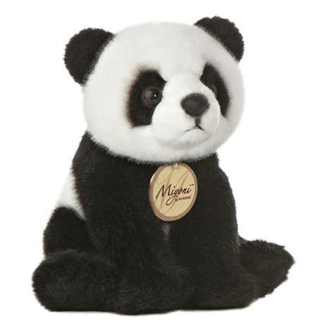 realistic stuffed panda 7 inch plush bear by aurora at