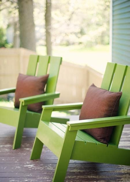 modern adirondack chairs    home projects