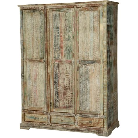 White And Wood Wardrobe by Woodsburgh White Washed Reclaimed Wood Large Wardrobe Armoire